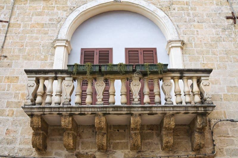Dziejowy pałac. Mesagne. Puglia. Włochy. fotografia royalty free
