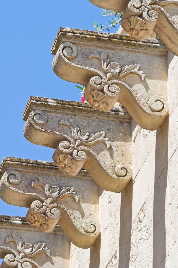 Dziejowy pałac. Soleto. Puglia. Włochy. fotografia royalty free