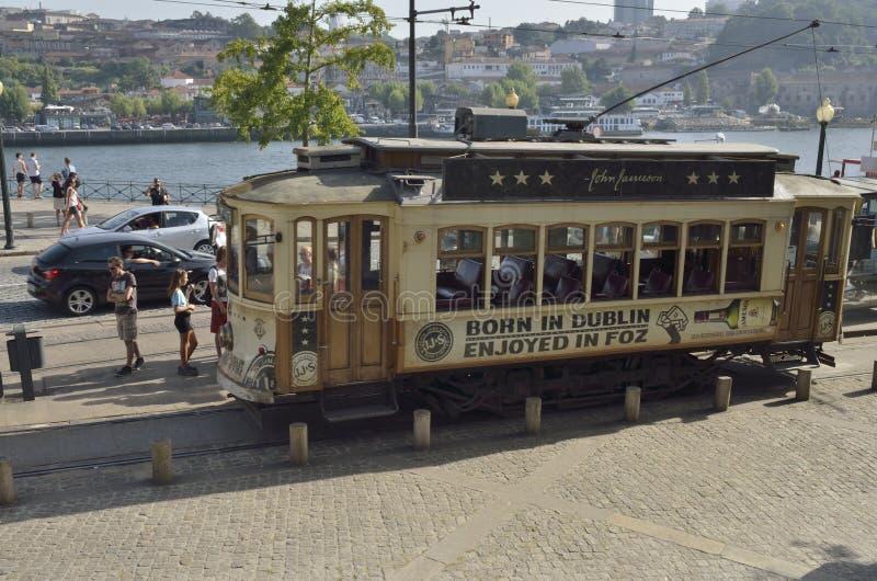 Dziejowy Porto tramwaj fotografia stock