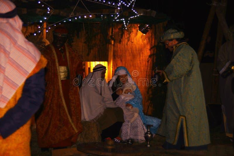 Dziejowy przedstawicielstwo narodziny Jezus obrazy royalty free