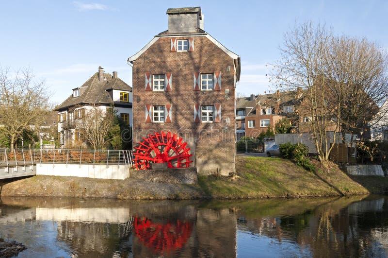 Dziejowy watermill Susmuhle na Rzecznym Niers zdjęcie royalty free