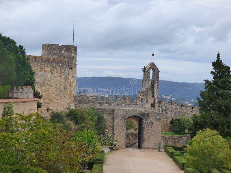 Dziejowy wierza Convento De Cristo, Portugalia zdjęcie royalty free