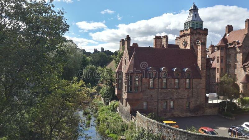 Dziekan wioska - istny maluje Edinburgh zdjęcie stock