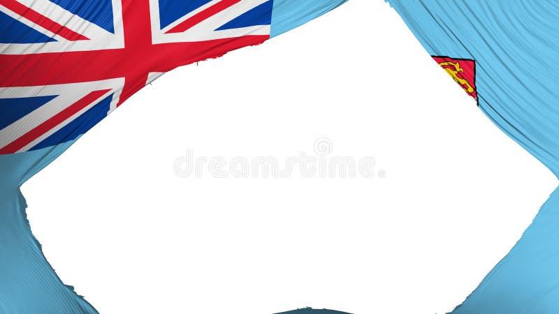 Dzieląca Fiji flaga royalty ilustracja