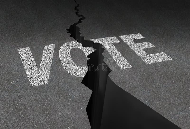 Dzielący głosowanie ilustracji