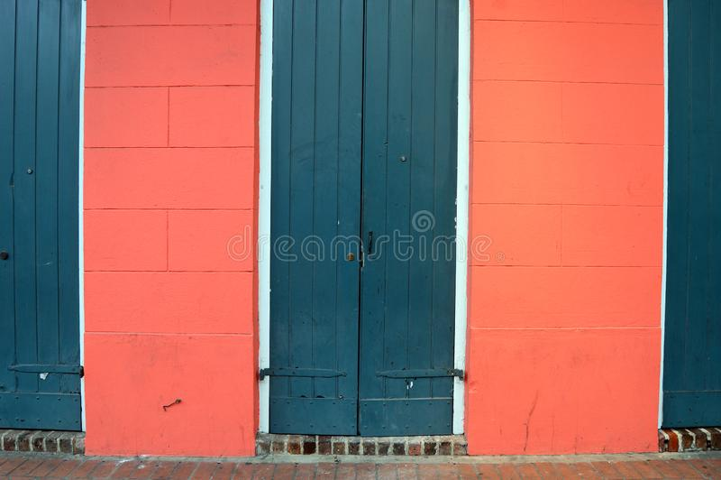 Dzielnic Francuskich drzwi zdjęcie royalty free