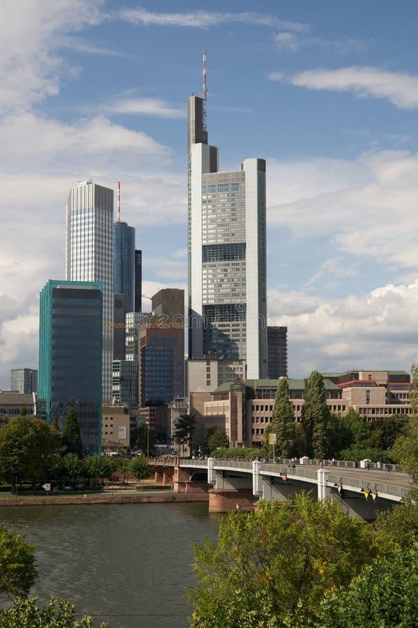 dzielnica biznesu Frankfurt Germany rzeka obrazy royalty free