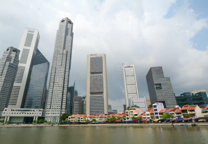 Download Dzielnica biznesu Singapur obraz stock editorial. Obraz złożonej z centrala - 57653389