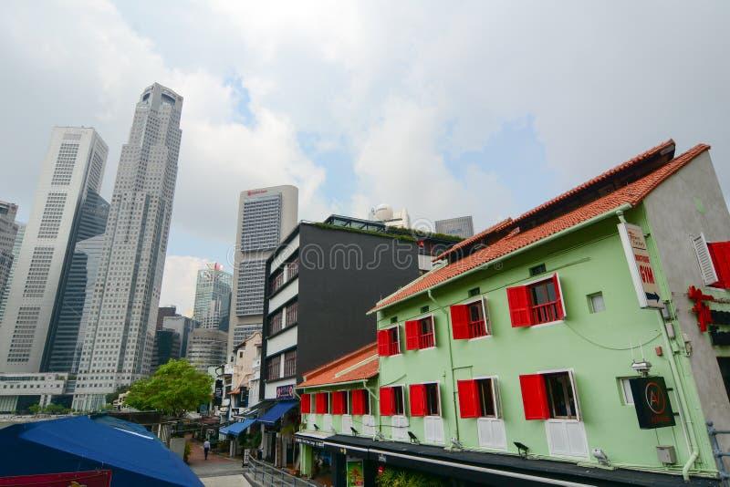 Download Dzielnica biznesu Singapur obraz editorial. Obraz złożonej z cityscape - 57654175