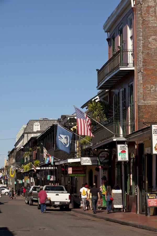Dzielnica Francuska teren w Nowy Orlean, Luizjana obraz royalty free