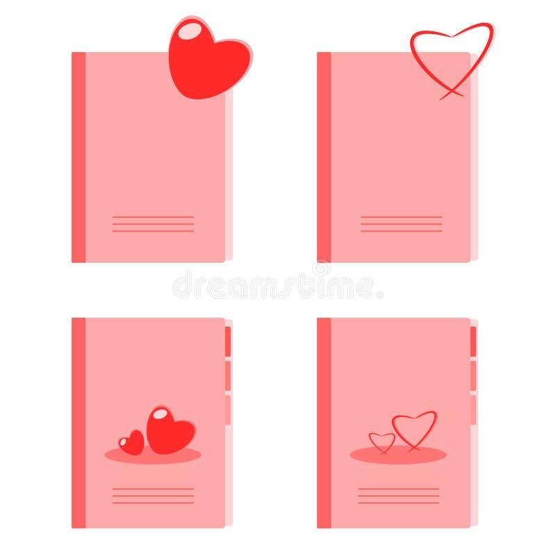 Dzienniczek miłość royalty ilustracja