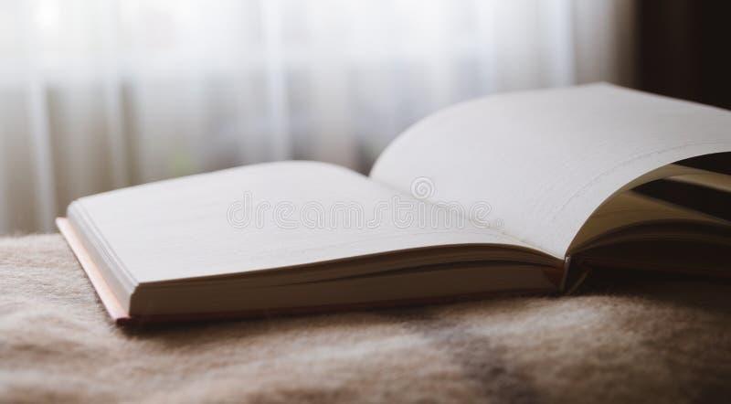 Dzienniczek nagrywać przeciw okno pisze pracie pisze dokumentacyjnych myślach Akcydensowych zdjęcia stock