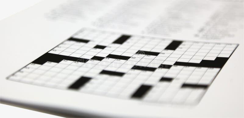 Dziennika Crossword łamigłówka zdjęcia royalty free