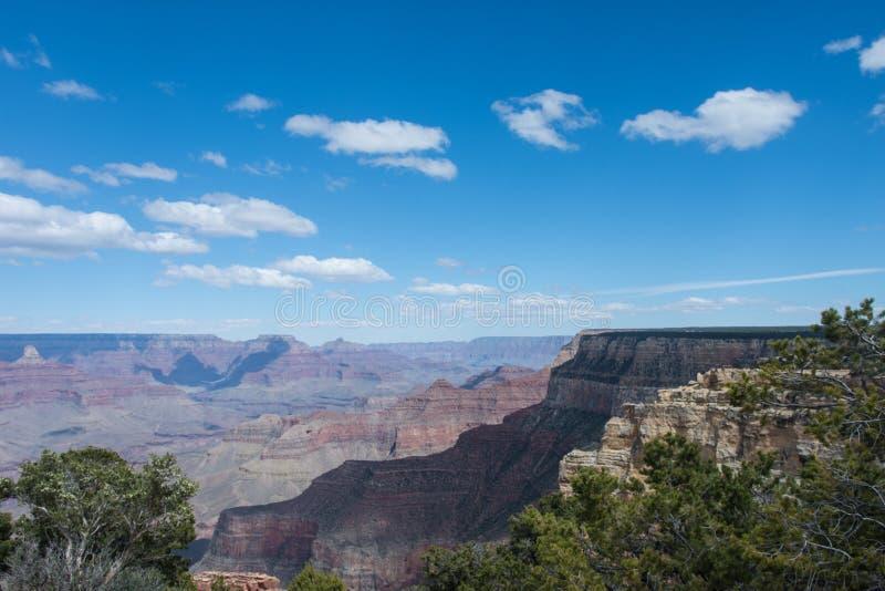 Dzienny widok Południowy obręcz Grand Canyon park narodowy w Arizona obraz stock
