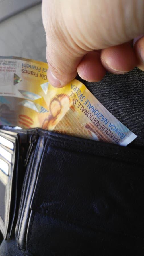 Dziesięć szwajcarskich franków zdjęcia stock