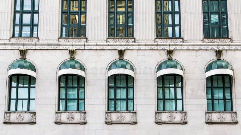Dziesięć Zielony Windows obrazy royalty free