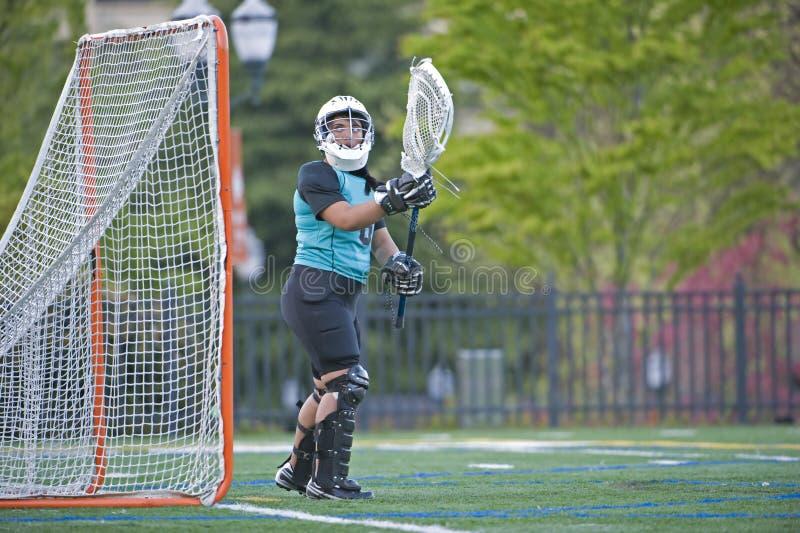 dziewczyn bramkarza lacrosse zdjęcie royalty free