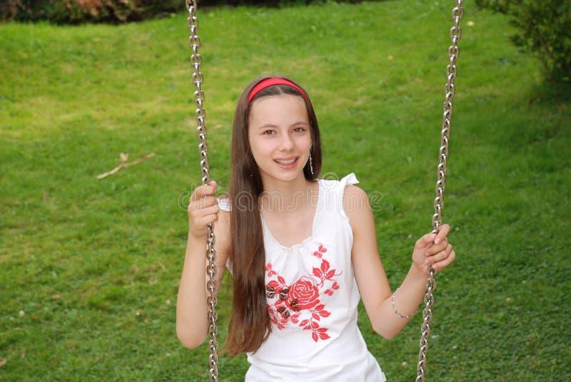 dziewczyn huśtawki zdjęcia royalty free