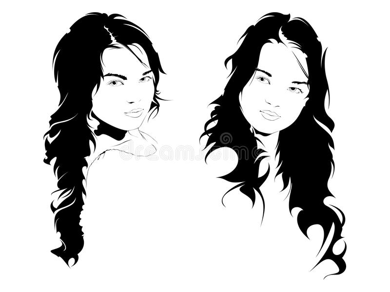 dziewczyn piękni potomstwa royalty ilustracja