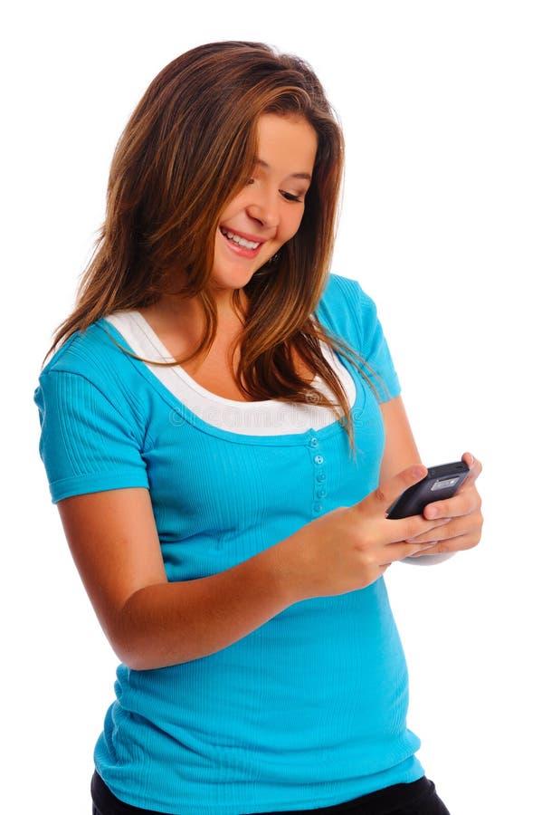 dziewczyn sms obraz royalty free
