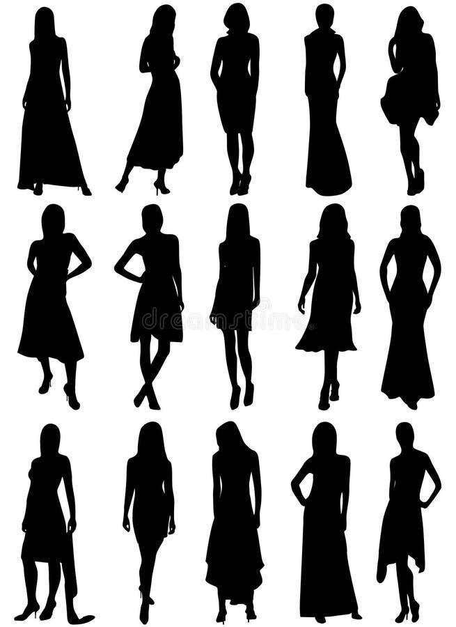 Download Dziewczyn sylwetki ilustracja wektor. Obraz złożonej z nowożytny - 9759465