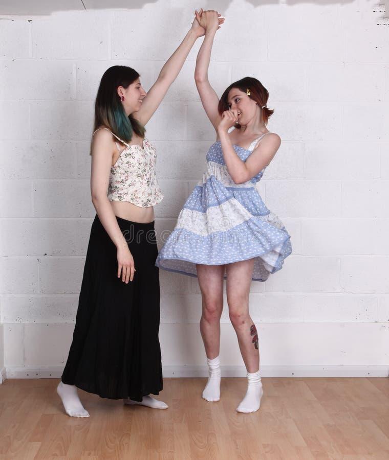 Dziewczyn tanczyć obraz stock
