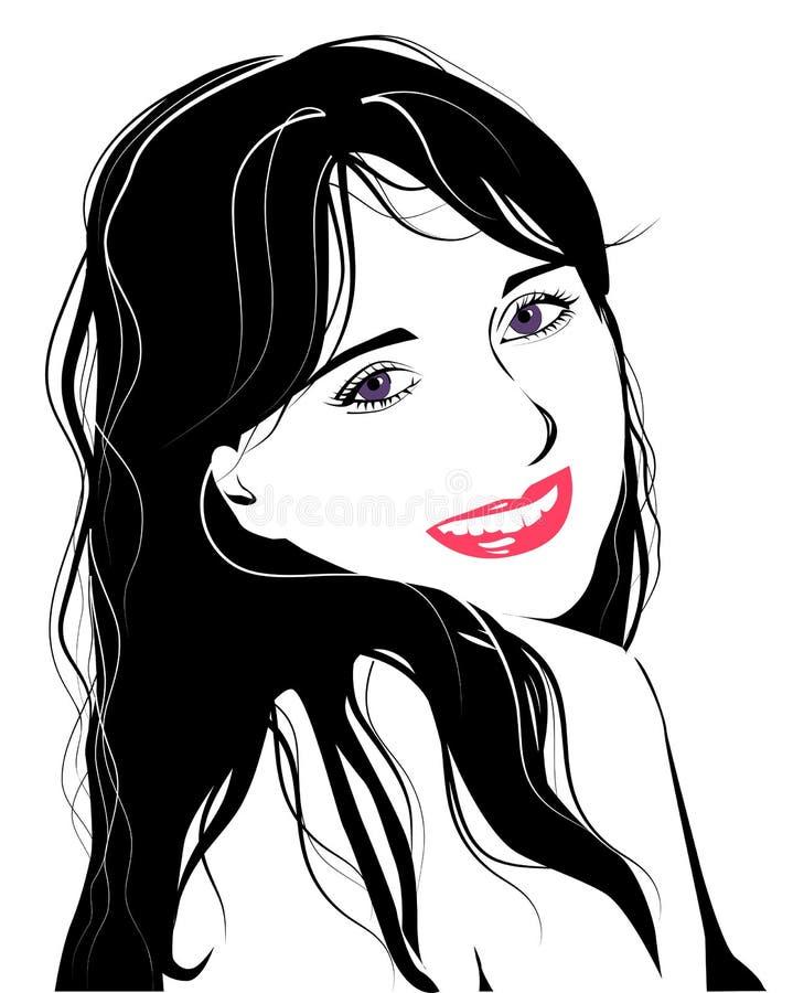 dziewczyn TARGET2657_0_ potomstwa ilustracja wektor