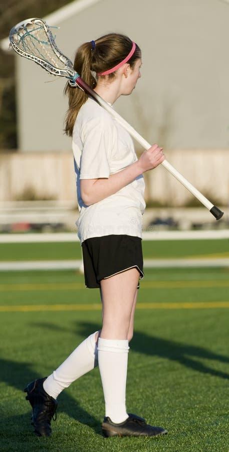 dziewczyn wysoka lacrosse szkoła fotografia royalty free