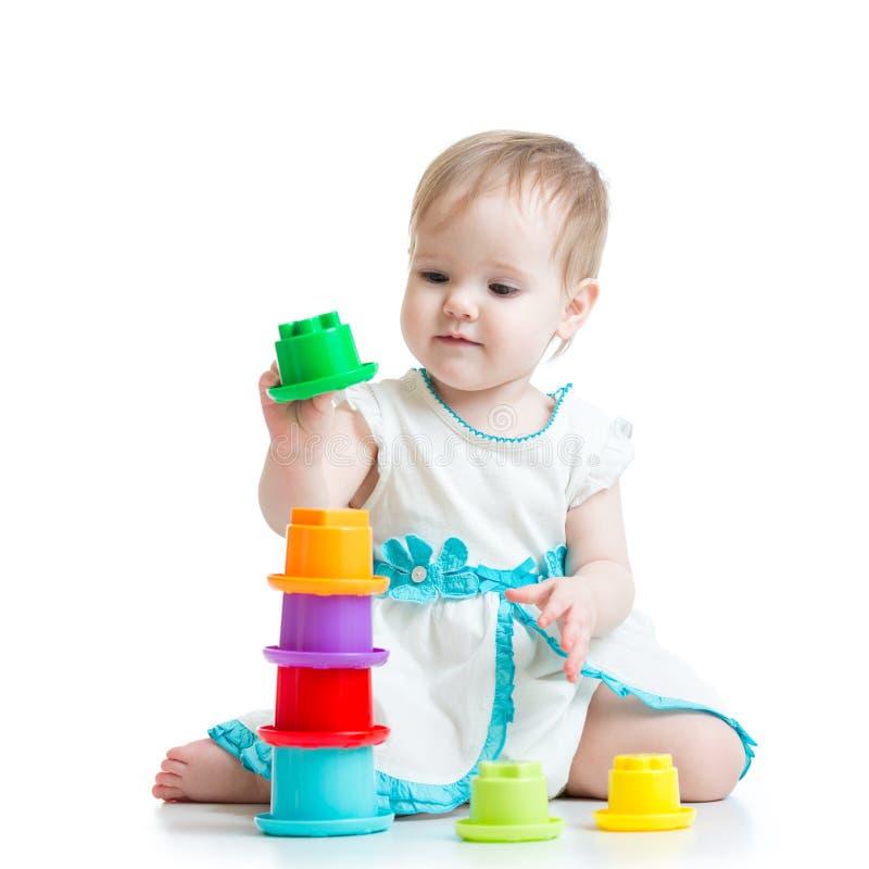 dziewczyn zabawki małe bawić się obrazy royalty free