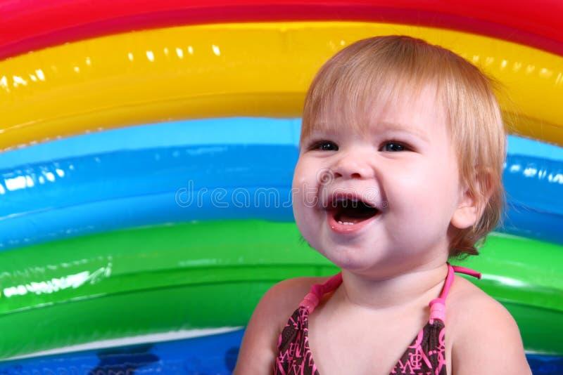 dziewczyna śmieje się trochę obrazy stock