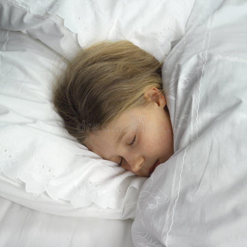 dziewczyna śpi obraz stock