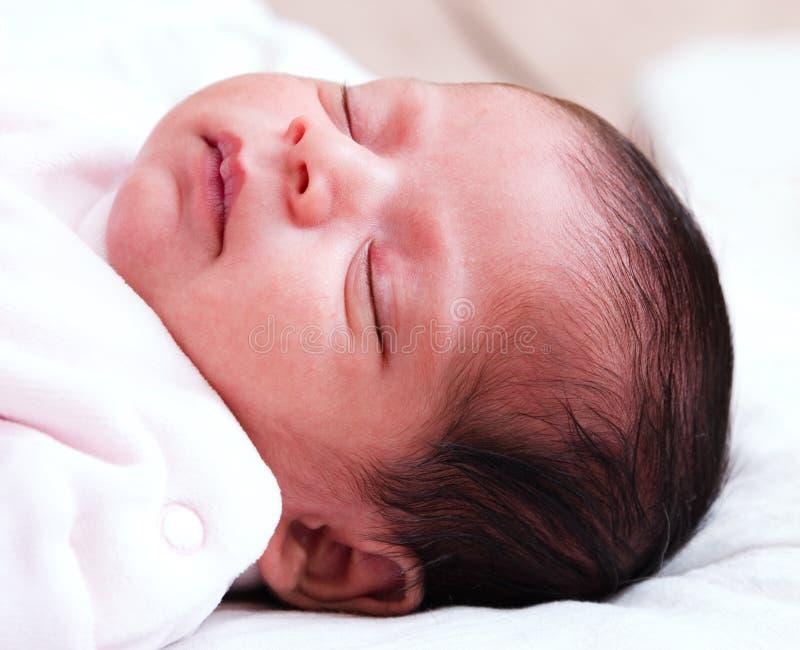 dziewczyna śpi dziecka zdjęcia royalty free