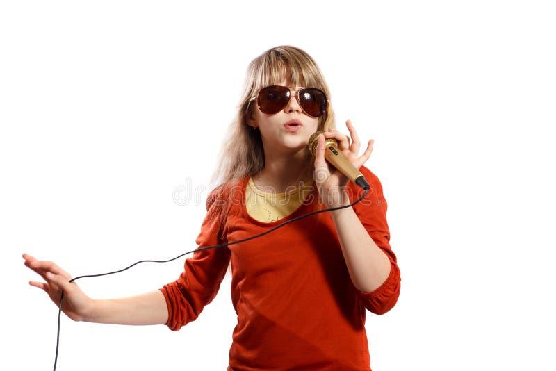 Dziewczyna śpiewa obraz royalty free