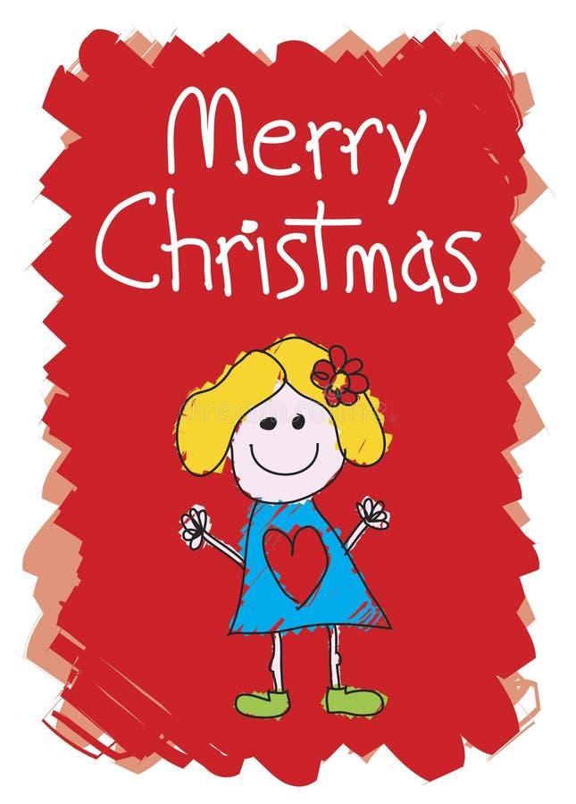 dziewczyna świątecznej wesoło royalty ilustracja