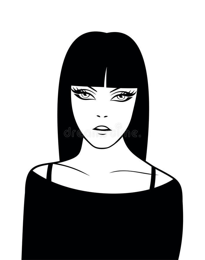 dziewczyna 3 ilustracji