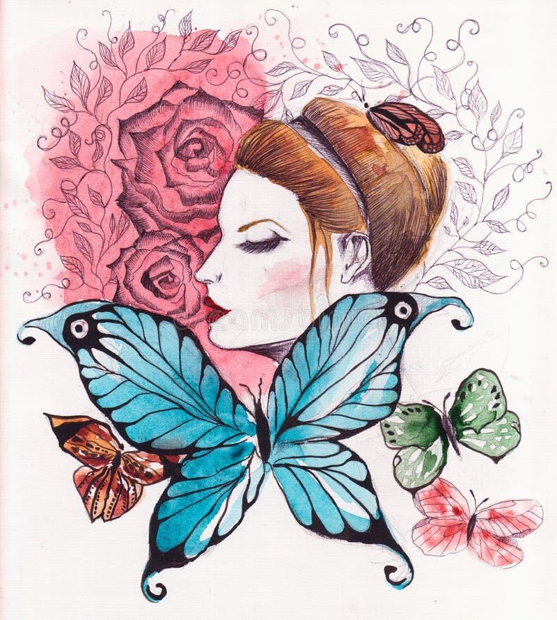 dziewczyna ilustracja wektor