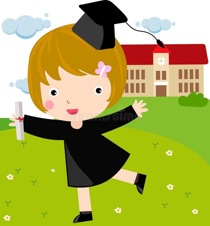 dziewczyna absolwent royalty ilustracja
