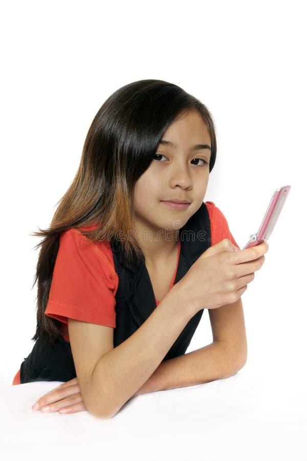 dziewczyna aisan telefon obrazy royalty free