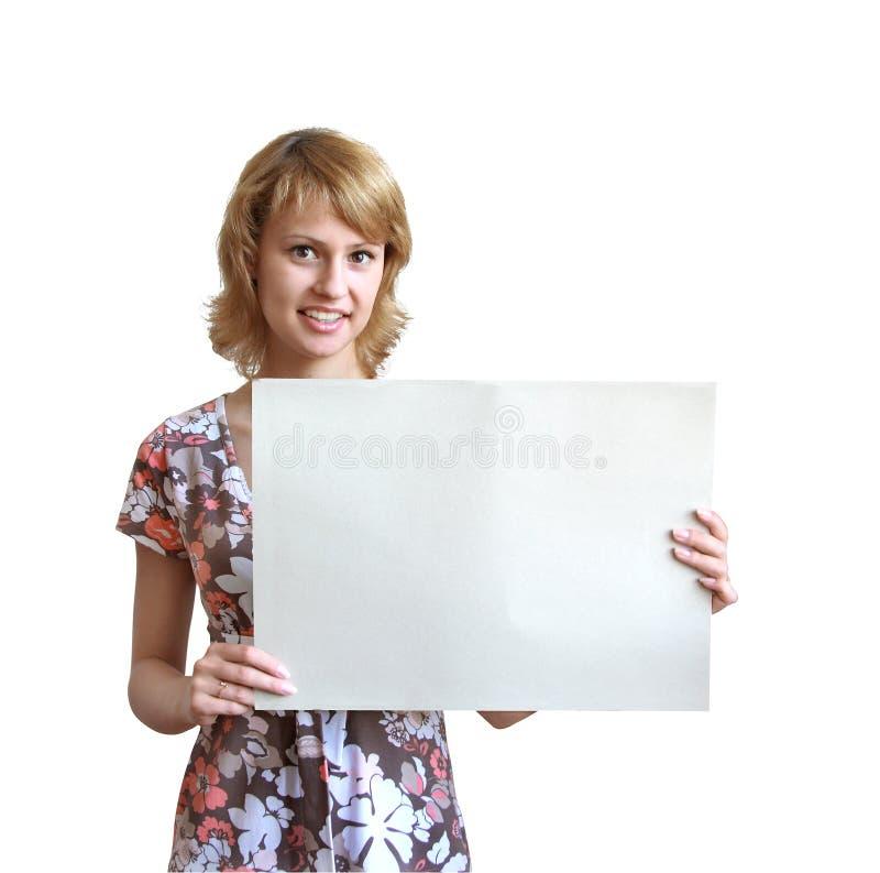 dziewczyna arkusza papieru obrazy royalty free