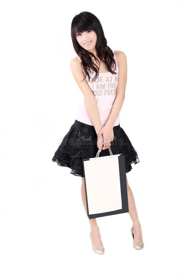 dziewczyna azjatykci zakupy zdjęcia royalty free