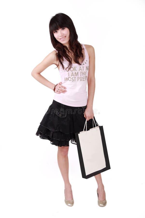 dziewczyna azjatykci zakupy obrazy stock