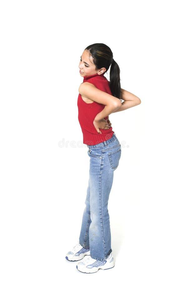 dziewczyna backache obrazy stock