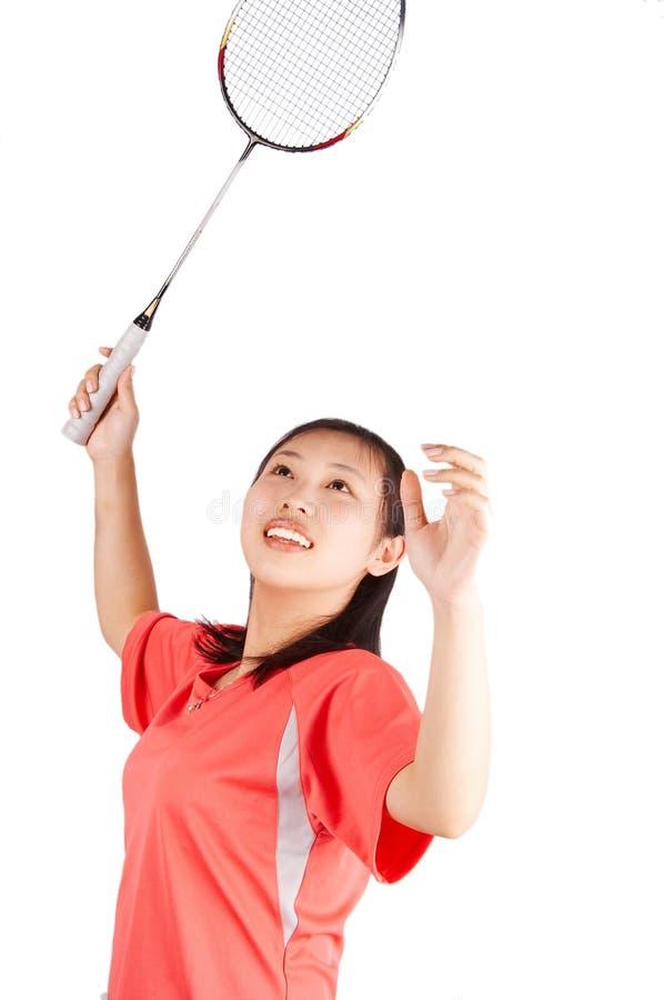 dziewczyna badminton zdjęcia royalty free