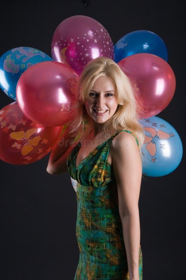 dziewczyna ballons obraz stock
