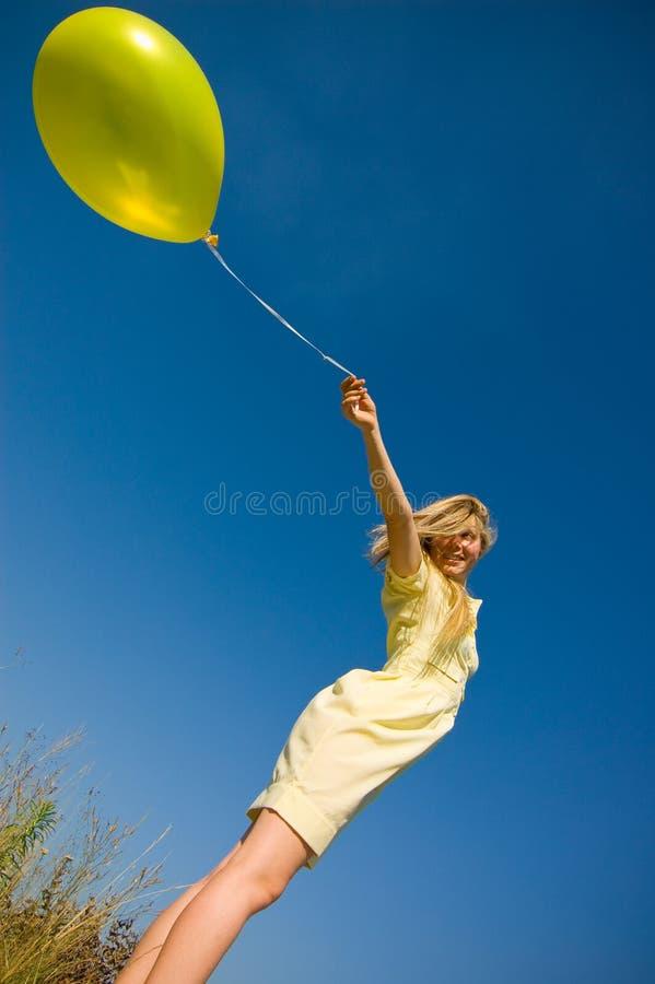 dziewczyna balonowa obraz stock