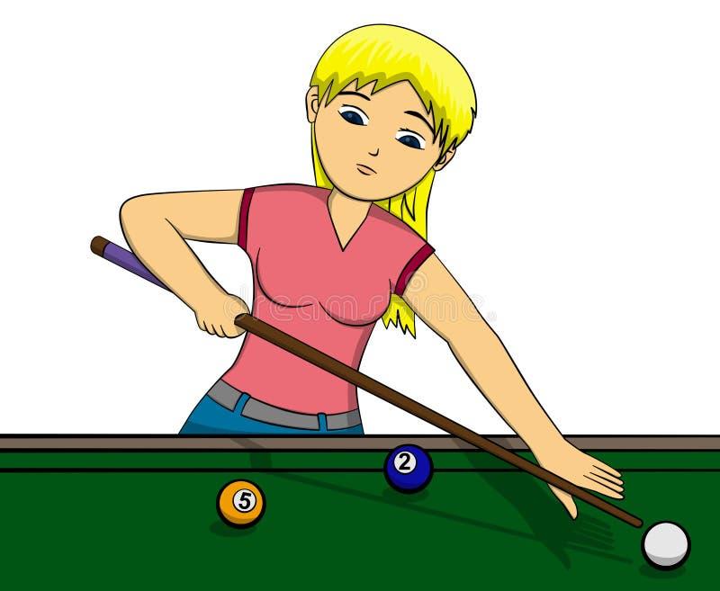 dziewczyna basen ilustracja wektor