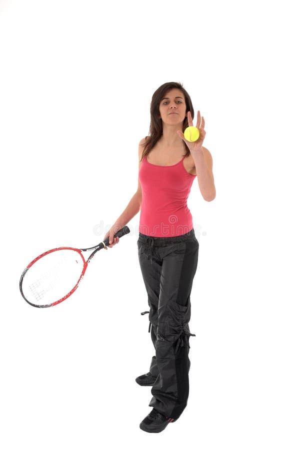 Download Dziewczyna Bawić Się Tenisa Zdjęcie Stock - Obraz złożonej z tło, plenerowy: 13341934