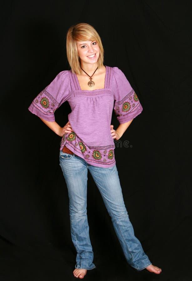 dziewczyna blond hipis obrazy stock