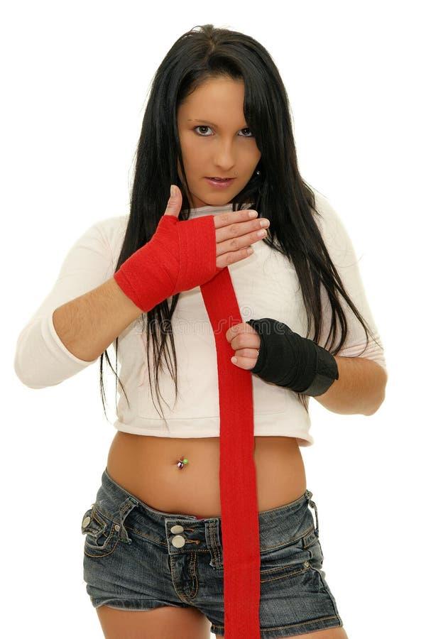 Dziewczyna boks fotografia stock