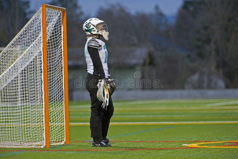 dziewczyna bramkarza lacrosse obraz royalty free
